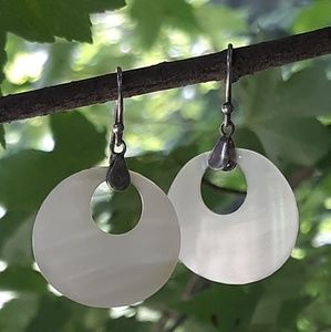 Sterling silver and MOP dangle earrings